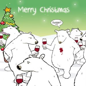 CANX22 – Bugger Bear Merry Christmas Card